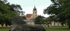 Mein Blick auf die Kirche von Laxenburg