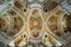 """Mein """"Blick nach Oben """" in der Klosterkirche von Banz"""
