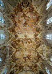 """Mein """"Blick nach Oben """" in der Wallfahrtskirche Birnau (Bodensee)"""