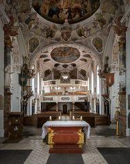 """Mein """"Blick nach Westen"""" in der Pfarrkirche St. Michael (Bertoldshofen)"""