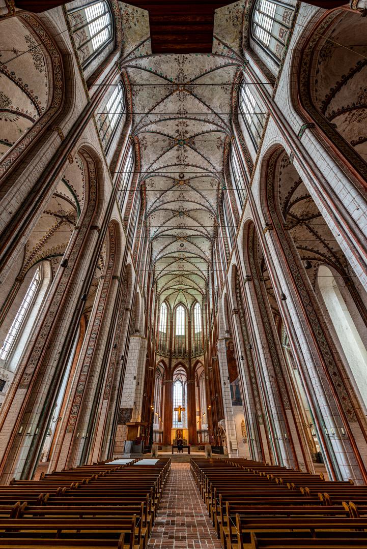 Mein Blick zum Altar in St. Marien, Lübeck