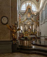 """Mein """"Blick zum Chor"""" in der Kirche St.Mang in Füssen"""
