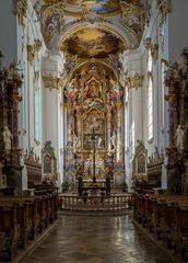 """Mein """"Blick zum Chor"""" in der Klosterkirche Mariä Himmelfahrt (Roggenburg)"""