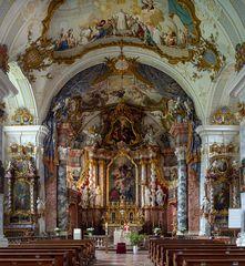 """Mein """"Blick zum Chor"""" in der Klosterkirche St. Georg und Pankratius in Raitenhaslach"""