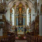"""Mein """"Blick zum Chor"""" in der Klosterkirche St Magnus (Bad Schussenried)"""