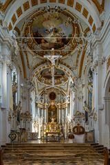 """Mein """"Blick zum Chor"""" in der Klosterkirche St. Peter und Paul (Oberelchingen)"""