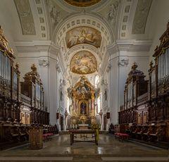 """Mein """"Blick zum Chor"""" in der Klosterkirche St. Verena ( Rot an der Rot )"""