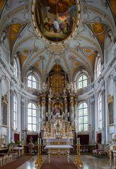 """Mein """"Blick zum Chor"""" in der Pfarrkirche Mariä Heimsuchung (Lechbruck am See)"""