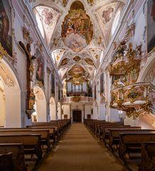 """Mein """"Blick zur Orgel"""" im Martinsmünster Fischbachau"""