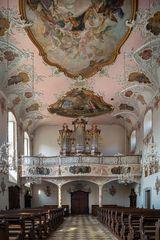 """Mein """"Blick zur Orgel"""" in der Augustinerkirche St.Michael (Münnerstadt)"""