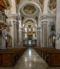 """Mein """"Blick zur Orgel"""" in der Barockbasilika St.Mang (Füssen)"""