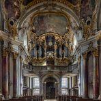 """Mein """"Blick zur Orgel"""" in der Wallfahrtskirche Käppele in Würzburg"""