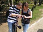 Mein Bruderherz mit Freundin bei der Arbeit in Heidelberg auf dem Schloss