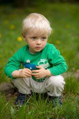 Mein kleiner Mann auf Entdeckungstour...