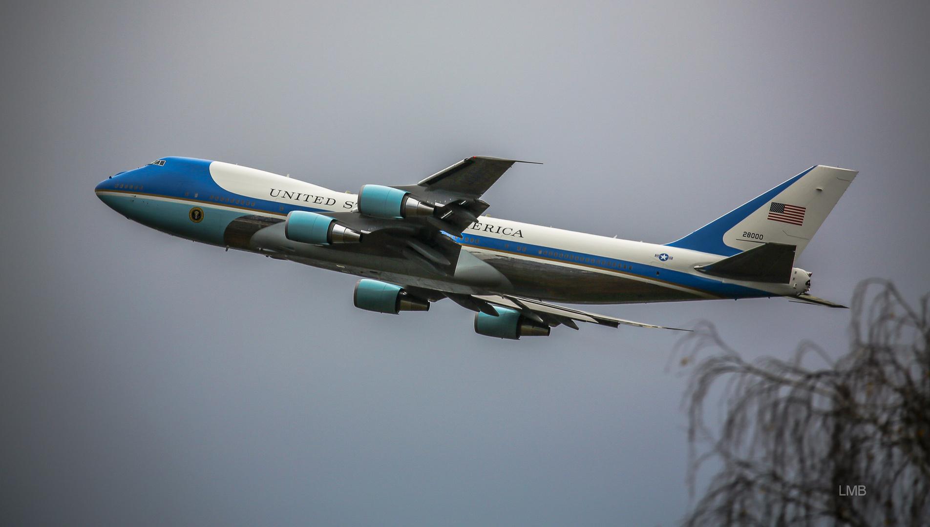 Mein letztes Foto der VC-25A?