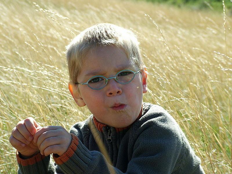 Mein lieber Sohn an einem der letzten schönen Herbsttage des Monats Oktober!