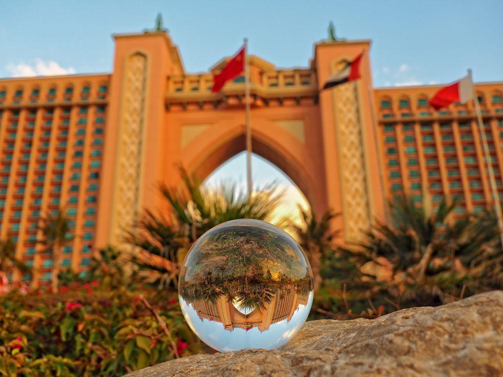 Mein neues Spielzeug...Kugelfotografie vor dem Atlantis Hotel in Dubai