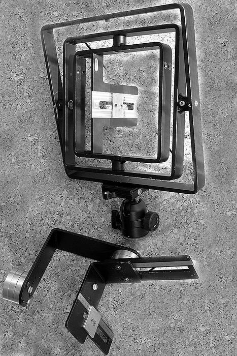 Mein Prototyp (3 Kilo) und das Seriengerät (1,5 Kilo)