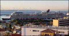 Mein Schiff 2 im Hafen von Palme