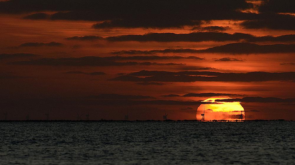 Mein schönster Sonnenuntergang zusammen mit meinem Nikon 300mm F2.8
