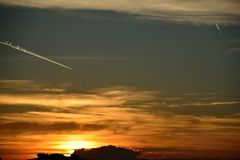 Mein Sonnenuntergang von meinem Balkon 01