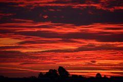 Mein Sonnenuntergang von meinem Balkon 02