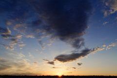 Mein Sonnenuntergang von meinem Balkon am 13.01.2015 ...