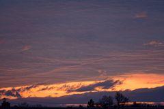 Mein Sonnenuntergang von meinem Balkon am 21.12.2014 ....