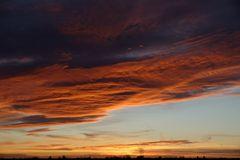 Mein Sonnenuntergang von meinem Balkon am 21.12.2014 ...