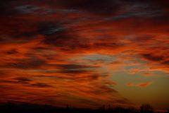 Mein Sonnenuntergang von meinem Balkon am 24.12.2014 ....
