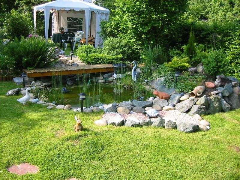 Mein Teich im Garten Foto& Bild landschaft, wasserfälle, bach, fluss& see Bilder auf