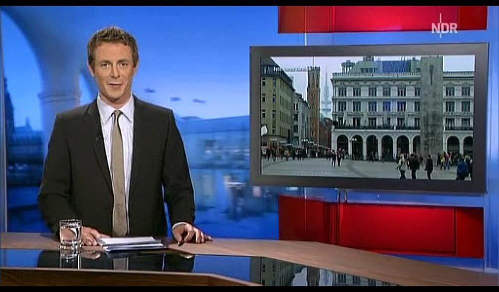 Mein Wetterfoto im NDR am 10. August 2009