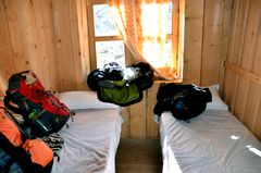 Mein Zimmer in Bhimtang auf 3700 m Höhe