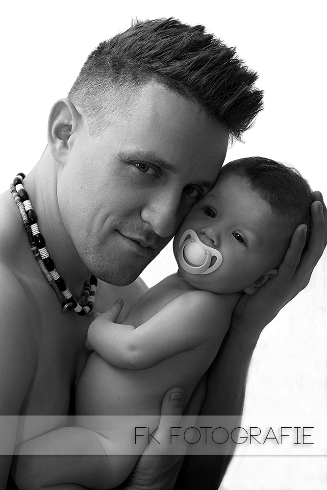 Mein Zwerg mit ihrem Papa
