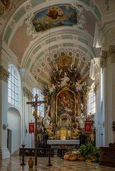 """Mein""""Bick zum Chor"""" in der Pfarrkirche St.Nikolaus Murnau am Staffelsee"""