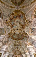 """Mein""""Blick nach oben"""" in der Asamkirche Maria Himmelfahrt in Aldersbach"""