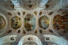 """Mein""""Blick nach oben"""" in der Kirche Eglise Saint-Maurice (Ebermunster)"""