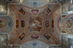 """Mein""""Blick nach oben"""" in der Wallfahrtskirche Vilgertshofen"""