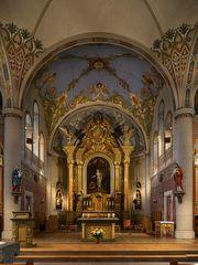 """Mein""""Blick zum Chor"""" in der Kirche St. Margareta in Hohenwepel"""