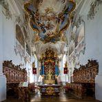"""Mein""""Blick zum Chor"""" in der Wallfahrtskirche St.Michael (Violau)"""