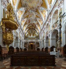 """Mein""""Blick zur Orgel"""" im Freisinger Dom"""