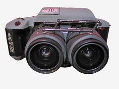 Meine 3D-Kamera - eine Spezielanfertigung von RBT - mit 28-70 mm Objektiv - mehr Tele geht nicht ...