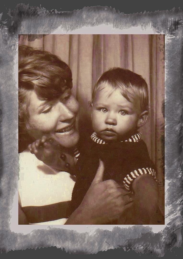 Meine Frau Irene mit Tochter Anja