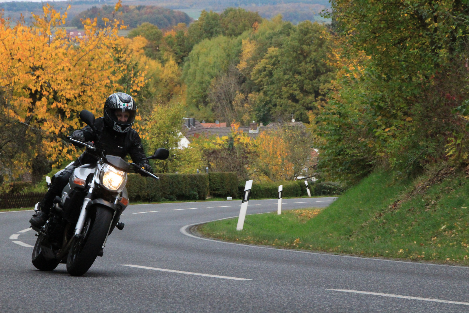 Meine Freundin Andrea auf ihren Motorrad