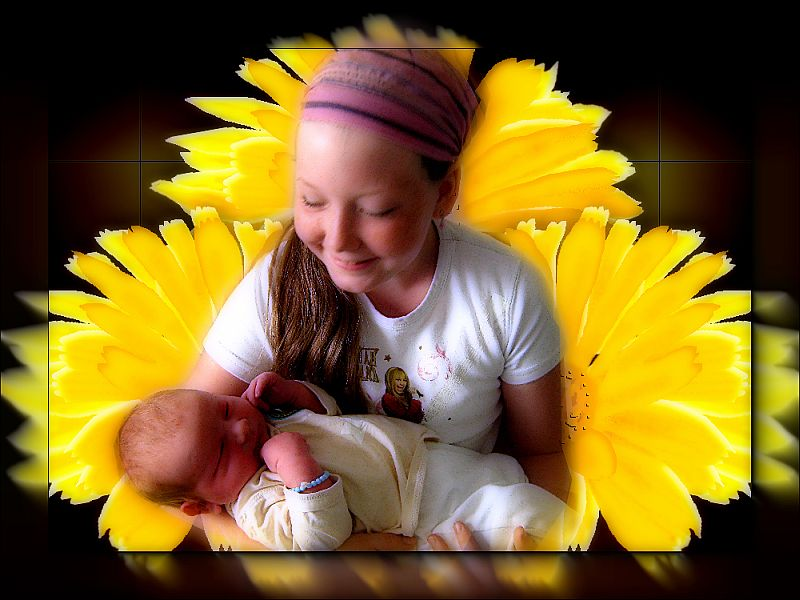 Meine jüngste Tochter mit ihrem Neffen