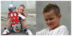meine Kids waren beim Friseur...