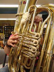 meine kollegin an der tuba