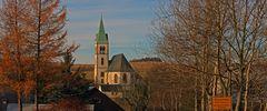 Meine Lieblingskirche in Fürstenau im Osterzgebirge ganz weit oben