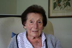 Meine Mutter an ihrem 90. Geburtstag