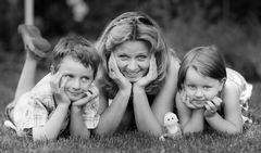 Meine Schwester mit ihren Kindern